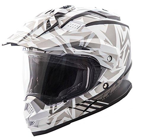 Fly Racing Unisex-Adult Full-Face-Helmet-Style F2 Mips Retrospec Helmet (White/Grey, Large)