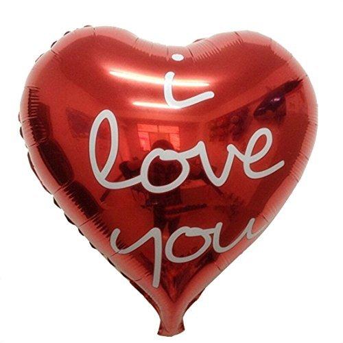 eDealMax fte d'anniversaire de Mariage dcoration en Forme de Coeur Rouge Ballon 3 PCS