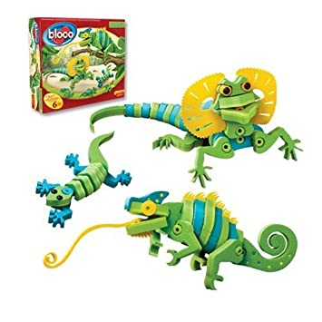 amazon com bloco toys lizards and chameleons toys games