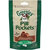 GREENIES PILL POCKETS Soft Dog Treats, Peanut Butter, Tablet, 3.2 oz.
