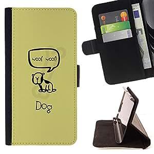 For LG OPTIMUS L90 - Cute Woop Woop Dog /Funda de piel cubierta de la carpeta Foilo con cierre magn???¡¯????tico/ - Super Marley Shop -