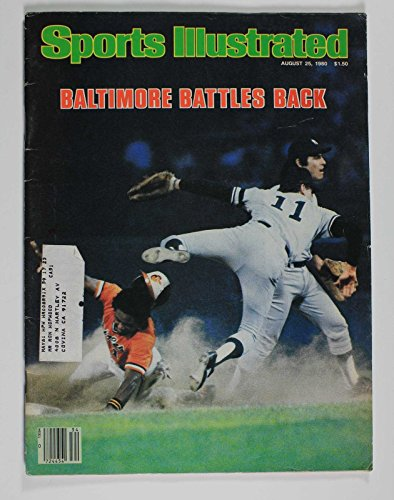 1980 SPORTS ILLUSTRATED MAGAZINE AUGUST ORIOLES YANKEES
