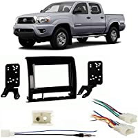 Fits Toyota Tacoma 2013-2014 Double DIN Harness Radio Install Kit - Gloss Dash