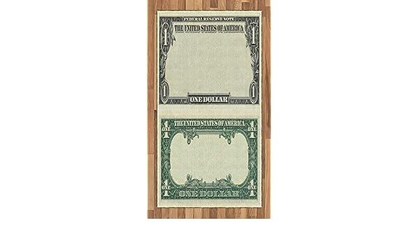 ABAKUHAUS Dinero Alfombra de Área, Un Dólar Símbolo del Dólar ...