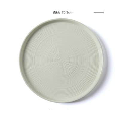 Creative round flat plate dish dish ceramic dim sumcake location snack plate-N  sc 1 st  Amazon.com & Amazon.com | Creative round flat plate dish dish ceramic dim sum ...