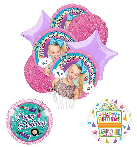 Price comparison product image JoJo Siwa Party Supplies and Dream Crazy Big Birthday Balloon Bouquet Decorations