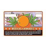 Florida FL State Medical Marijuana Strain Cannabis Compliance Sticker Pot Labels 1.25 x 2'' (100)