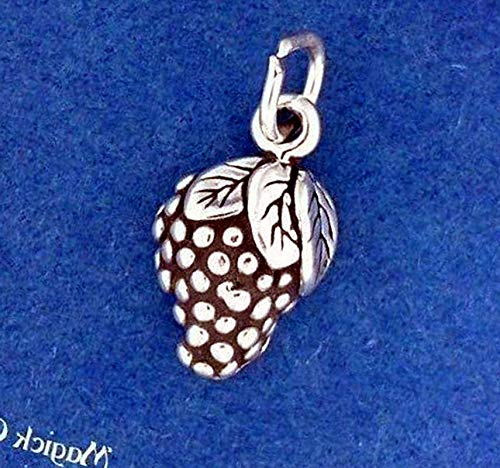 Lot of Silver Plated Bunch of Grapes Grapevine Charm Pendant Vintage Crafting Pendant Jewelry Making Supplies - DIY for Necklace Bracelet Accessories by CharmingSS