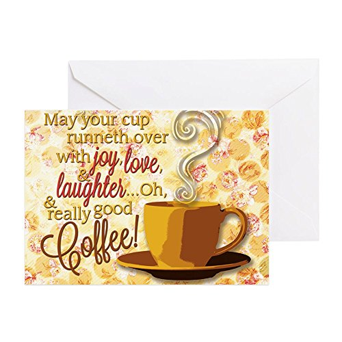 CafePress - Coffee - Greeting Card, Note Card with Blank Inside, Birthday Card or Special Occasion Glossy