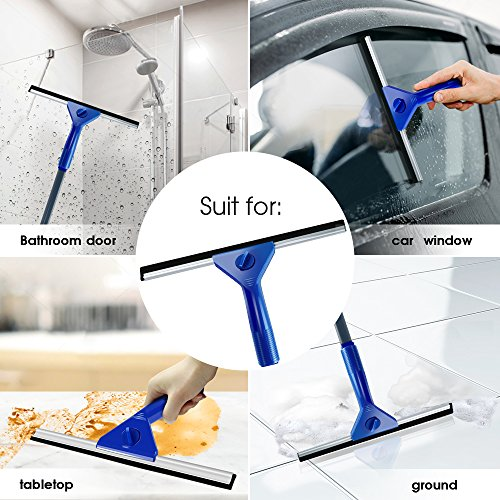 Masthome Squeegee and Microfiber Window Washer Squeegee Sets with Adjustable Handles Perfect for Window&Car Cleaning by Masthome (Image #6)
