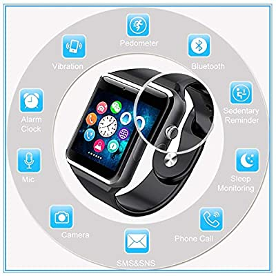 Bluetooth Smart Watch - ANCwear Smartwatch Phone for Android with Camera/SIM Card Slot, Sport Fitness Tracker Watch with Step Counter, Sleep Monitor for Women Men Kids Campatible Smartphones