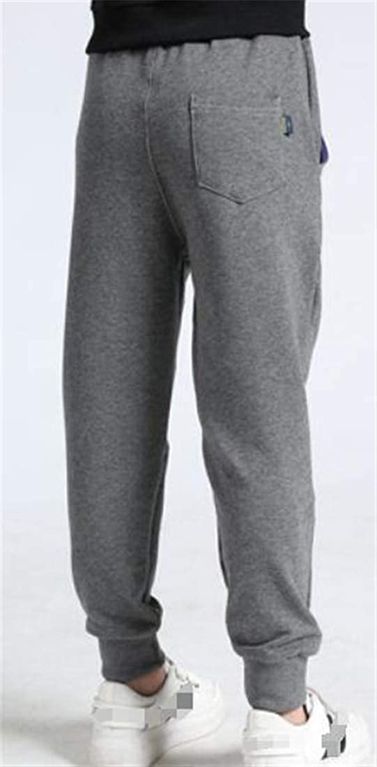 Etecredpow Boys Fleece Lined Active Elastic-Waist Sweatpants Jogging Pants