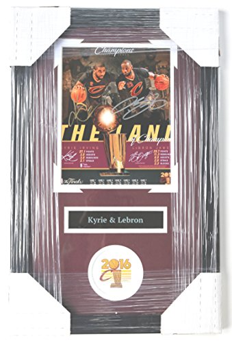 Lebron James and Kyrie Irving Cleveland Cavaliers Cavs Signed Autographed 22