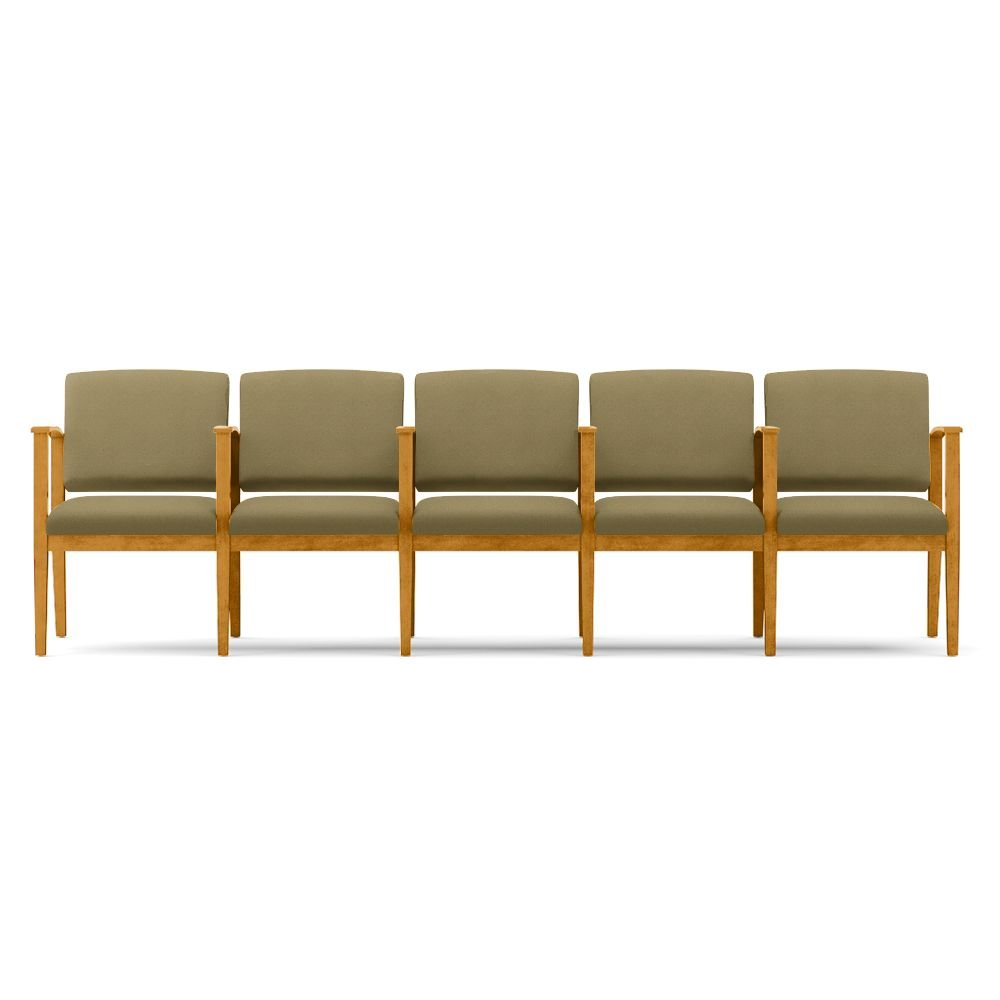 Amazon.com : Amherst Five Seat Fabric Sofa with Center Arms ...