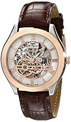Rotary Men's gs90511/21 Analog Display Swiss Automatic Brown Watch