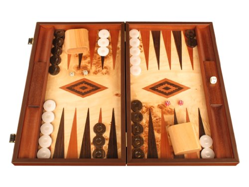 Lupo Wood Backgammon Set by Manopoulos - 18 3/4