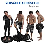 EasyGoProducts Surf Sac – Wetsuit Changing Mat and Dry Carry Bag – Large Waterproof Surf Bag with Drawstring, use as Wetsuit Bag or for Swimsuits – Bonus Shoulder Strap for Hands Free