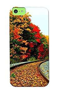 Graceyou Tpu Case For Iphone 5/5s With Foliage Covered Railroad , Nice Case For Thanksgiving Day's Gift