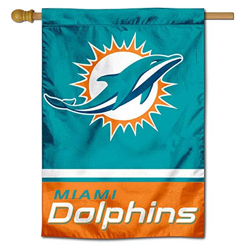WinCraft Miami Dolphins Two Sided House Flag
