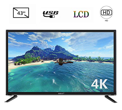 43-inch 4K Smart TV, 4K TV HD Smart LCD TV 19201080, 4K Television BCL-32A/3216D,Supports Network Cable&Satellite&WiFi& Webcast Function&Game,Supoort HDMI,USB,VGA,RF,3.5mm Interface,220V(US Plug)