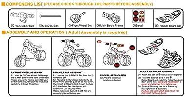 migotoys TCV-V100R 2 en 1 Bicicleta de equitación para bebé y ...