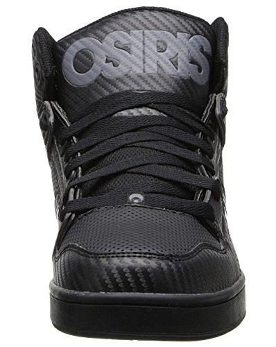 Osiris NYC 83 Mid Negro Negro Hi Top Hombres Skate Zapatillas Zapatos Botas