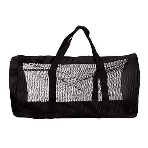 Great Scuba Gear - Heavy-Duty Mesh Duffle Bag. Great for Sports Equipment, Scuba Diving, Snorkeling, Swimming and More