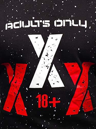 Sans Homme Bolf Sportif Travers Inséré 1a1 Capuche Imprimé La tx17 Sweatshirt Style À Noir Col Tête Le Rond qqr6p