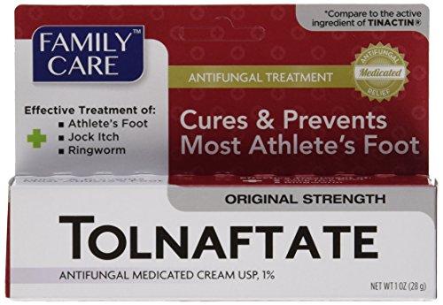 Athletes Foot Cream ([3 PACK] Family Care Tolnaftate Antifungal Cream 1% Compare to Tinactin- 1 fl.oz)
