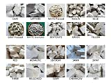 Set of Samples of All Types Edible Natural Chalk & Clay Chunks for Eating, 20 Species (Total 2 lb / 900 g)