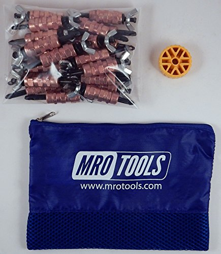 25 1/4 Standard Wing-Nut Cleco Fasteners w/ HBHT Tool & Carry Bag (KWN1S25-1/4) by MRO Tools Cleco Fasteners