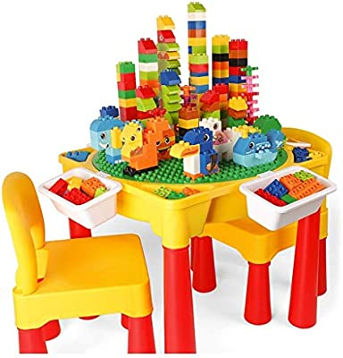 WJMLS 3 en 1 Mesa de Actividades para niños Bloques de ...