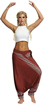 Darringls Pantalón de Yoga Mujer, Pantalones Bombacho Mujer Yoga ...