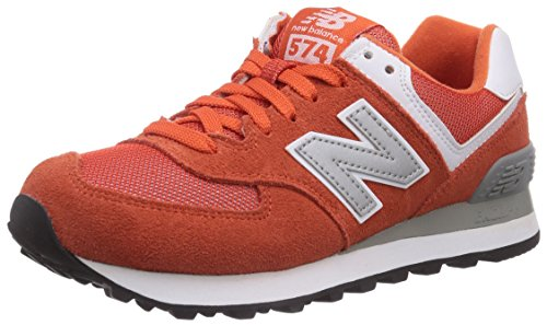 888546369719 - New Balance Men's ML574 Picnic Pack Collection Classic Running Shoe, Orange/Silver, 11.5 D US carousel main 0