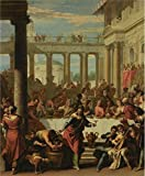 The Perfect Effect Canvas Of Oil Painting 'Sebastiano Ricci,The Marriage Feast At Cana,1712-1715' ,size: 18x22 Inch / 46x56 Cm ,this Imitations Art DecorativeCanvas Prints Is Fit For Home Office Decor And Home Gallery Art And Gifts