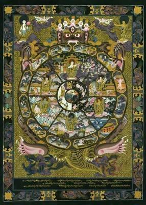 The Wheel Of Life Big Tibetan Art Mandala Print Asian