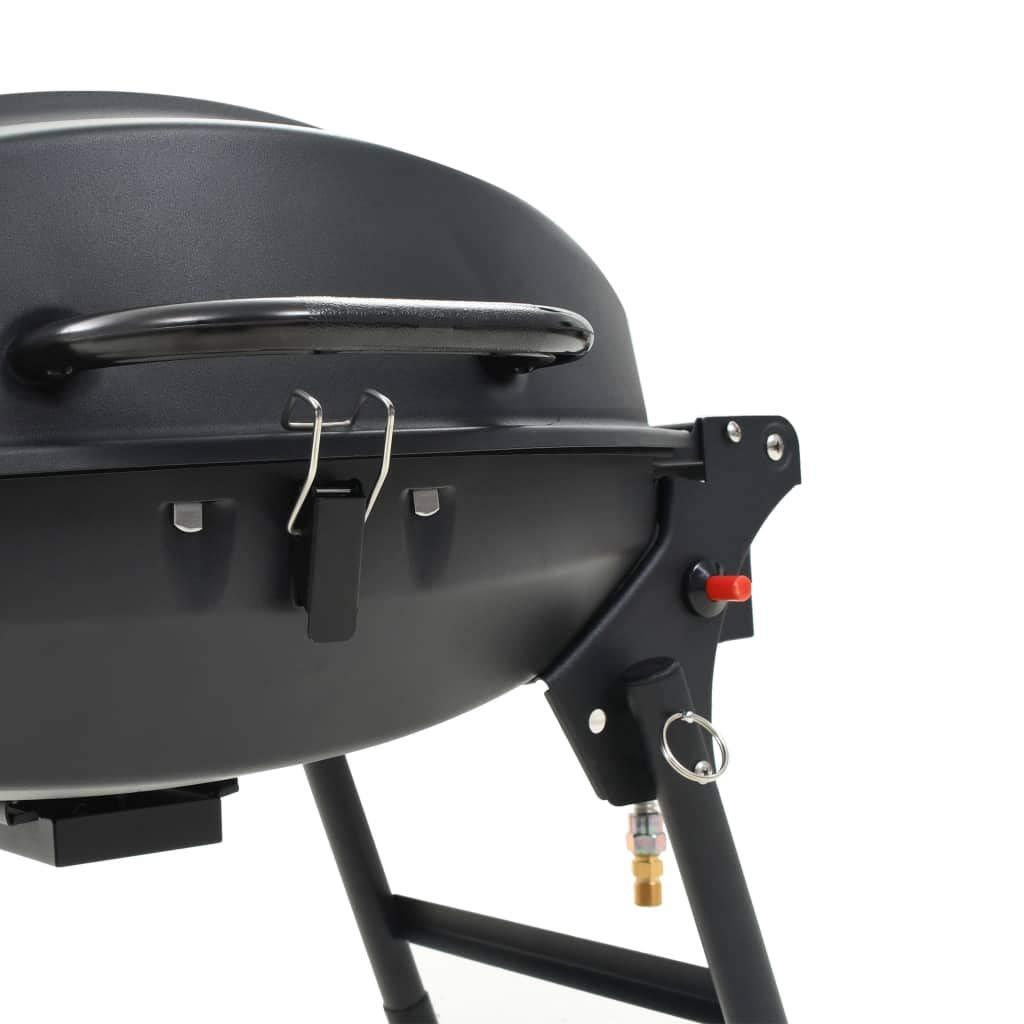 BBQ Gas Nero Barbecue e Griglia a Gas Portatile con Fornello Festnight