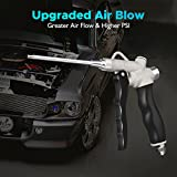 Audew Air Blow Gun with Adjustable Air Flow and Extended High Flow Nozzle Rubber Grip Duster Blow Gun for Car Interior Machinery Parts