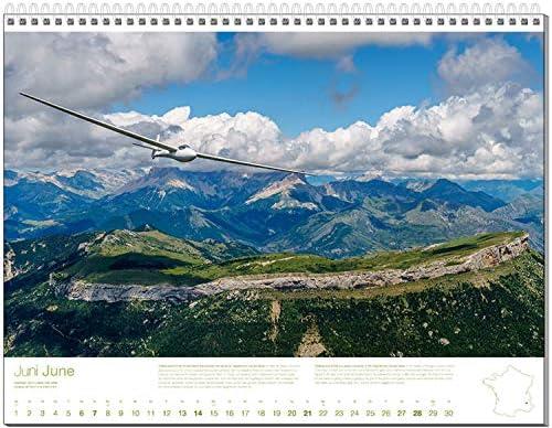 Segelflug Bildkalender DIN A2+, Fotokalender Segelfliegen 2020