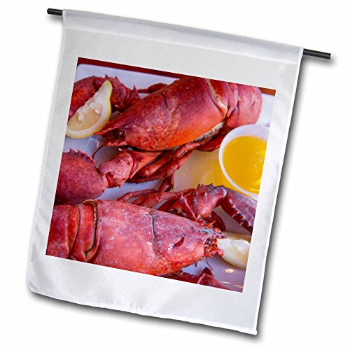 nt - Maine - Portland, Maine, lobster dinner at regional seafood restaurant - 12 x 18 inch Garden Flag (fl_251068_1) (Lobster Portland Maine)