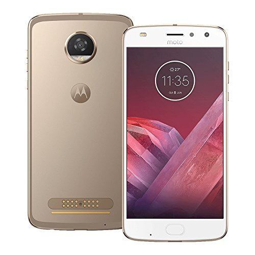 Motorola Moto Z2 Play (XT1710-09) 64GB Gold, 4GB RAM, Dual SIM, GSM Unlocked International Version, No Warranty