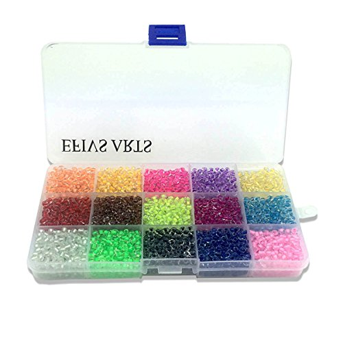 Efivs Arts 1000pcs Multicolor Beads Cube Charms for DIY Bracelets,Necklaces, Key Chains and Kid Jewelry Bead Box Kit,J003