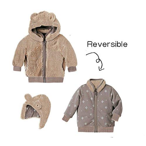 Mud Kingdom Baby Boys' Reviserble Coral Fleece Winter Coats 12M