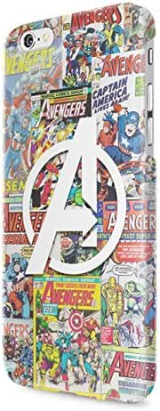 The Avengers Assemble Mighty Heroes Comics Collage Captain America Thor Hulk Ironman Black Widow Hawkeye Plastic Snap-On Case Cover Shell For iPhone 6