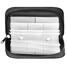 Neewer SD Card and Memory Card Case Pouch, 8 Pages 22 Slots Portable Waterproof and Anti-static Storage Carrying Case Holder for SD Card, XD Card, MMC Card, CF Card, SmartMedia Card