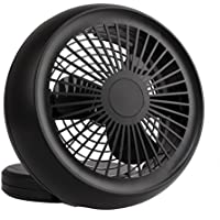 Portable USB and Battery Dual Power Fan Mini Personal Fan for Home,Office and Travel (Black)
