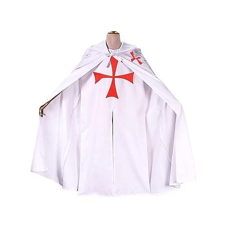YXRL Traje Medieval Cosplay Traje Templario Disfraces Ropa De Rendimiento White-XXL