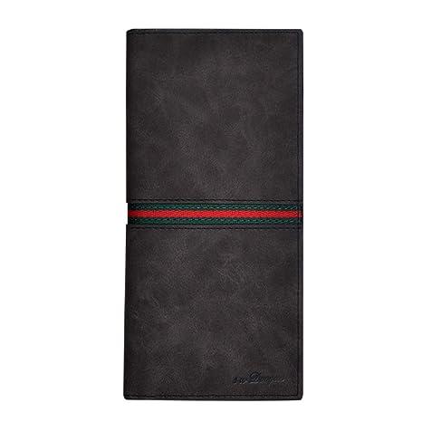 Winchanse Mens Multi-slots PU Leather Long Credit Card Wallet