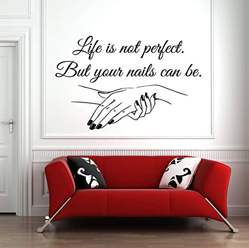 Dalxsh Nail Salon Quote Wall Decal Your Nails can be Perfect Nails Nail Art Polish Manicure Pedicure Beauty Salon Decor Stickers -