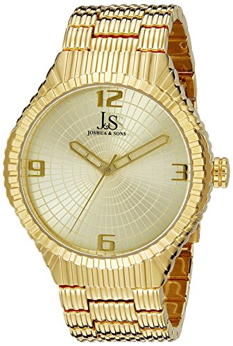 Joshua Sons Men s JS99YG Yellow Gold Quartz Watch with Gold Dial and Yellow Gold Bracelet